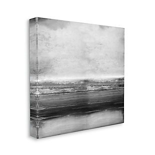 Stupell Industries Monochromatic Grey Rustic Abstraction Layered Shades, 17 x 17, Canvas Wall Art, Gray, large