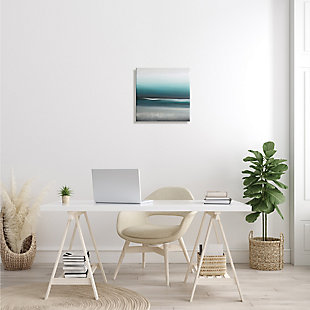 Stupell Industries Stormy Coast Abstract Nautical Landscape Grey Blue Pop, 17 x 17, Canvas Wall Art, Blue, rollover