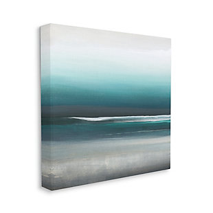 Stupell Industries Stormy Coast Abstract Nautical Landscape Grey Blue Pop, 17 x 17, Canvas Wall Art, Blue, large