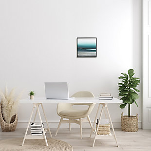 Stupell Industries Stormy Coast Abstract Nautical Landscape Grey Blue Pop, 12 x 12, Framed Wall Art, Blue, rollover