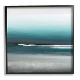 Stupell Industries Stormy Coast Abstract Nautical Landscape Grey Blue Pop, 12 x 12, Framed Wall Art, Blue, large