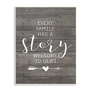 Stupell Industries Every Family Has A Story, 10 x 15, Wood Wall Art, Multi, large
