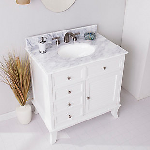 Southern Enterprises Bazely Bath Vanity Sink with Marble Counter Top, , rollover