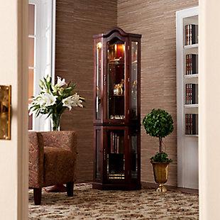Gemson Corner Curio Cabinet - Mahogany, , rollover