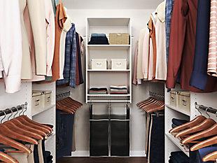 "EasyFit Closet Storage Solutions 21""-25"" W White Laundry Hamper Closet Kit, White, large"