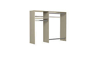 "EasyFit Closet Storage Solutions 36""-60"" W Weathered Gray Hanging Closet System, Weathered Gray, rollover"