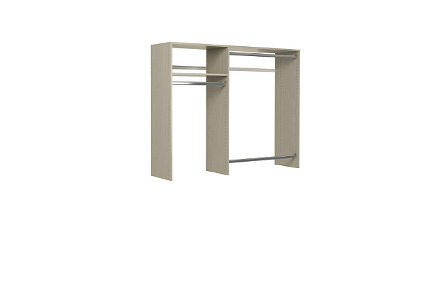 """EasyFit Closet Storage Solutions 36""""-60"""" W Weathered Gray Hanging Closet System, Weathered Gray, large"""