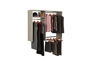 "EasyFit Closet Storage Solutions 36""-60"" W Weathered Gray Hanging Closet System, Weathered Gray, large"