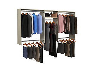 """EasyFit Closet Storage Solutions 48""""-96"""" W Weathered Gray Basic Hanging Closet System, Weathered Gray, large"""