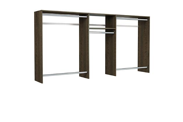 """EasyFit Closet Storage Solutions 48""""-96"""" W Truffle Basic Hanging Closet System, Truffle, large"""