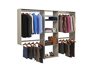 """EasyFit Closet Storage Solutions 48""""-96"""" W Weathered Gray Closet System, Weathered Gray, large"""