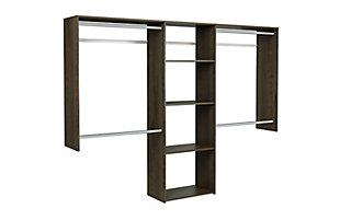 "EasyFit Closet Storage Solutions 48""-96""W Truffle Closet System, Truffle, large"