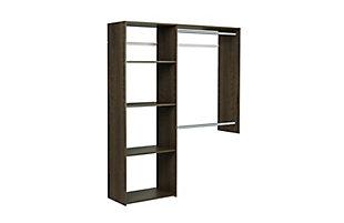 "EasyFit Closet Storage Solutions 36""-60"" W Truffle Shelving Closet System, Truffle, large"