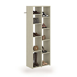 EasyFit Closet Storage Solutions Weathered Gray 10 Pair Adjustable Shoe Tower, Weathered Gray, rollover