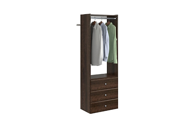 "EasyFit Closet Storage Solutions 25"" W Truffle Tower Kit, Truffle, large"