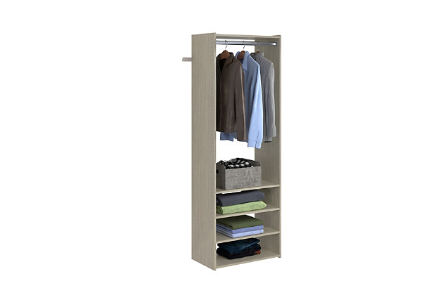 """EasyFit Closet Storage Solutions 25"""" W Weathered Gray Tower Kit, Weathered Gray, large"""