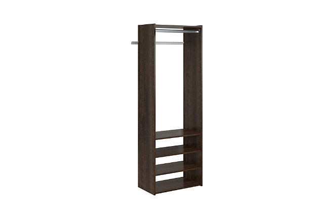 "EasyFit Closet Storage Solutions 25"" W Truffle Tower Kit, Truffle, large"