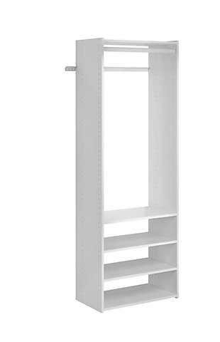 "EasyFit Closet Storage Solutions 25"" W White Tower Kit, White, rollover"