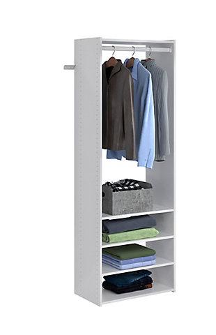 "EasyFit Closet Storage Solutions 25"" W White Tower Kit, White, large"