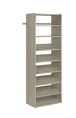 "EasyFit Closet Storage Solutions 25"" W Weathered Gray Essential Shoe Shelves, Weathered Gray, rollover"
