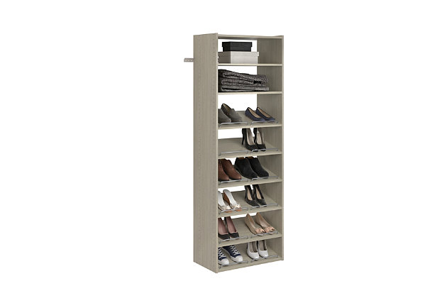 "EasyFit Closet Storage Solutions 25"" W Weathered Gray Essential Shoe Shelves, Weathered Gray, large"