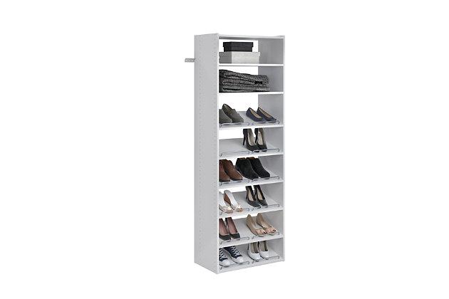 "EasyFit Closet Storage Solutions 25"" W White Essential Shoe Shelves, White, large"