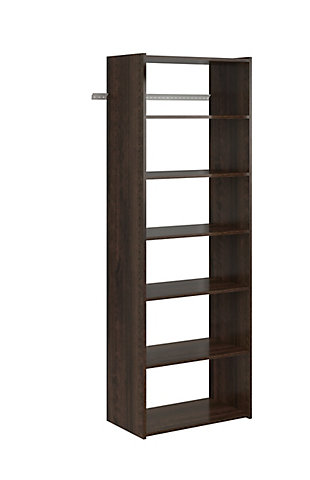 "EasyFit Closet Storage Solutions 25"" W Truffle Shelf Tower Kit, Truffle, rollover"