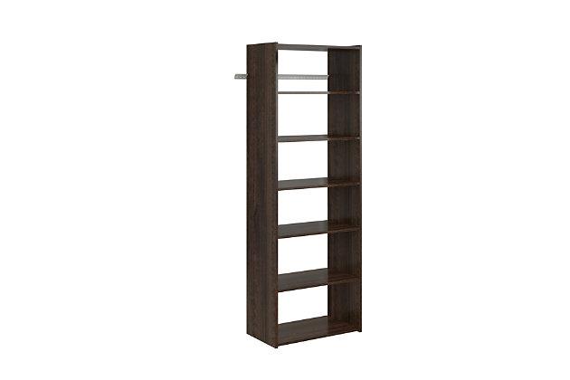 "EasyFit Closet Storage Solutions 25"" W Truffle Shelf Tower Kit, Truffle, large"