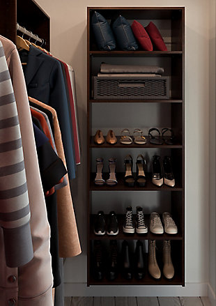 "EasyFit Closet Storage Solutions 25"" W Truffle Shelf Tower Kit, Truffle, large"