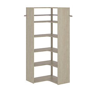"EasyFit Closet Storage Solutions 30"" W X 30"" D Weathered Gray Corner Tower Kit, Weathered Gray, rollover"