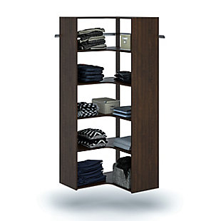 "EasyFit Closet Storage Solutions 30"" W X 30"" D Truffle Corner Tower Kit, Truffle, large"