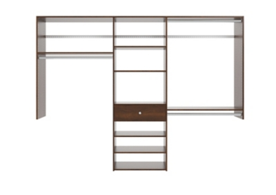 Picture of: Easyfit Closet Storage Solutions 96 W Truffle Perfect Fit Closet Kit Ashley Furniture Homestore