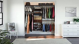 "EasyFit Closet Storage Solutions 85"" W Truffle Perfect Fit Closet Kit, Truffle, large"