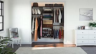 "EasyFit Closet Storage Solutions 74"" W Truffle Perfect Fit Closet Kit, Truffle, large"