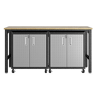 Manhattan Comfort 3-Piece Fortress Garage Cabinet and Worktable 1.0, , large