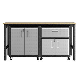 Manhattan Comfort 3-Piece Fortress Garage Cabinet and Worktable 2.0, , large