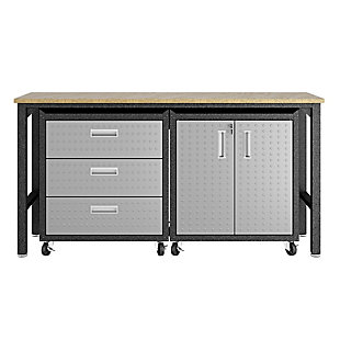 Manhattan Comfort 3-Piece Fortress Garage Cabinet and Worktable 3.0, , large