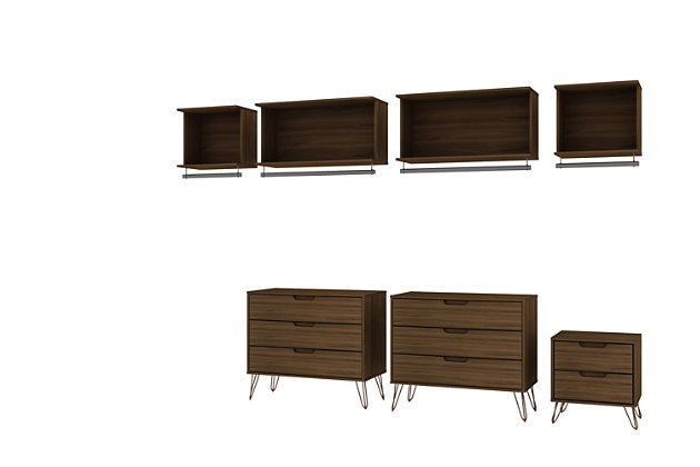 Rockefeller 7 Piece Open Wardrobe, Ashley Furniture Wardrobe Closet