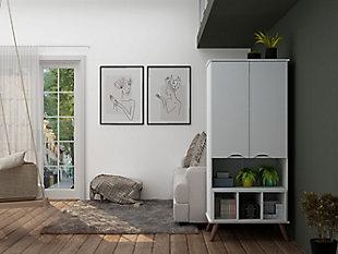 Hampton Display Cabinet, White, large