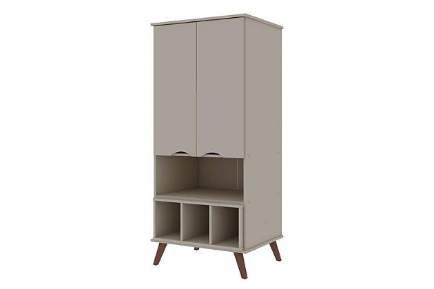 Hampton Display Cabinet, Off White, large