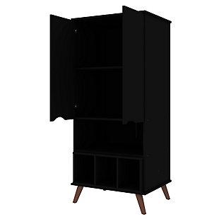 Hampton Display Cabinet, Black, large