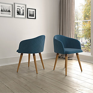 Kari Accent Chair (Set of 2), Blue, rollover