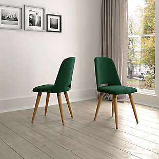 Selina Accent Chair (Set of 2), Green, rollover