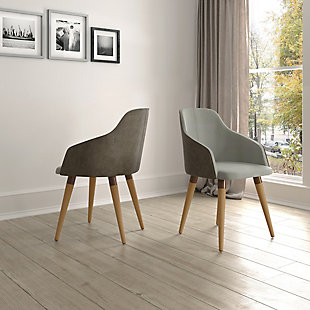 Martha Accent Chair (Set of 2), Gray, rollover