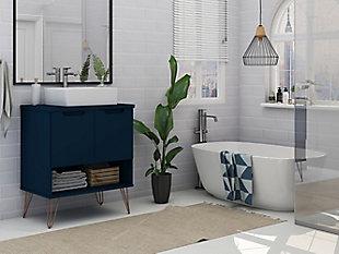 """Rockefeller  26.38"""" Bathroom Vanity Sink 2.0 in Tatiana Midnight Blue, Midnight Blue, rollover"""