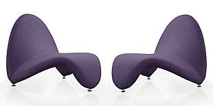 Manhattan Comfort MoMa Accent Chair (Set of 2), Purple, large