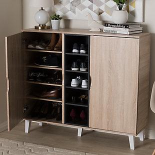 Baxton Studio Adelina 2-Door Shoe Cabinet, , rollover