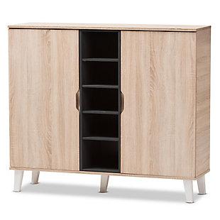 Baxton Studio Adelina 2-Door Shoe Cabinet, , large