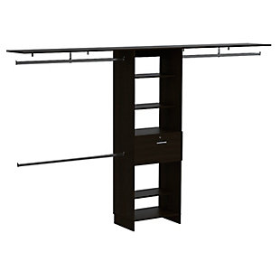 """TuHome Plego 70""""W - 118""""W Closet System with Drawers, , rollover"""