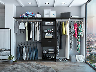 "TuHome Plego 70""W - 118""W Closet System with Drawers, , large"